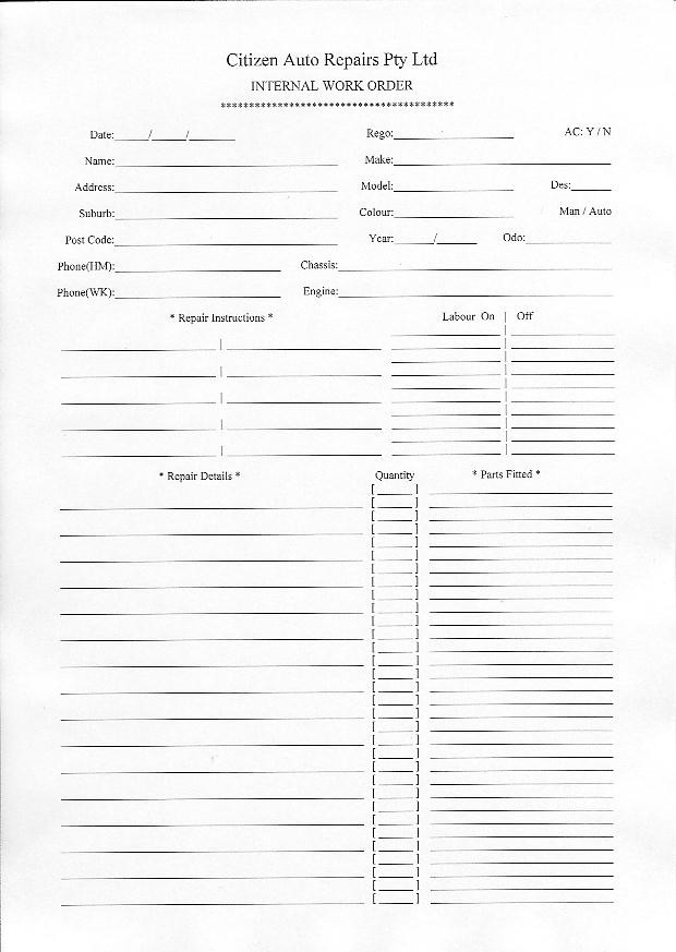 Sample Job Sheet  Job Application Samples Attendance Sheet